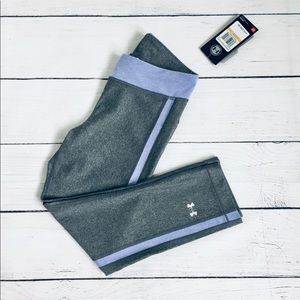Under Armour gray/lavender sports leggings S/P NWT